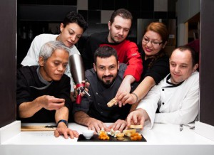 Fotografía Matías Smith y el equipo del Restaurante Metro Bistró Madrid Centro Plaza Mayor